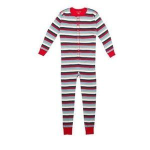 Hatley X Indigo Adult Pajama Holiday Stripe onesie